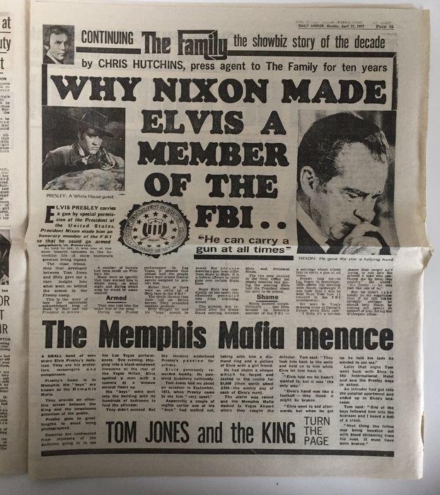 """""""Miért tette Nixon Elvist az FBI tagjává... - A memphisi maffia fenyegetése"""""""