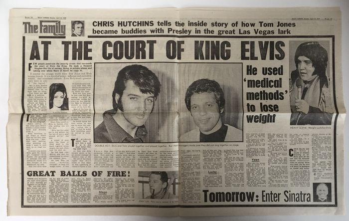 """A The Family egyik cikke: """"Elvis király udvarában-Használt orvosi módszereket, hogy lefogyjon"""""""