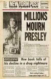 """New York Post: """"Milliók gyászolnak Presley-ért"""""""