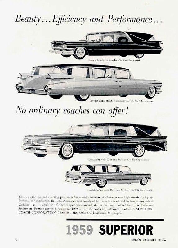 1959 Superior Cadillac ad